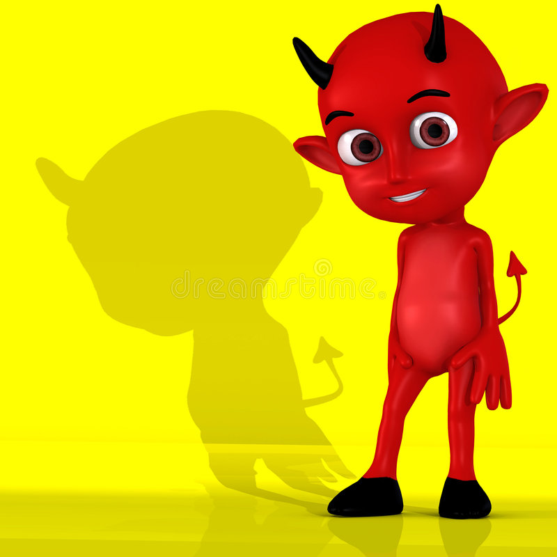 Petit diable #01 illustration de vecteur