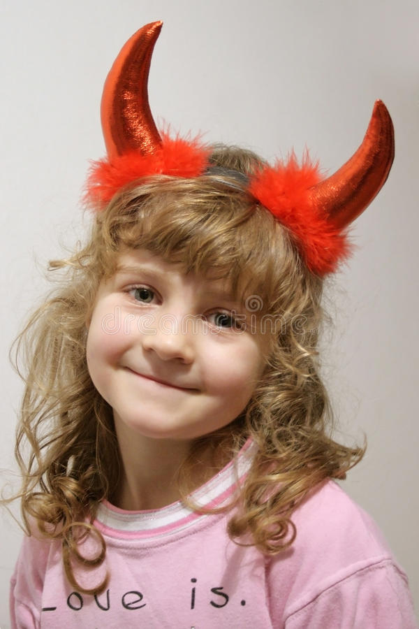 Petit diable mignon photos stock
