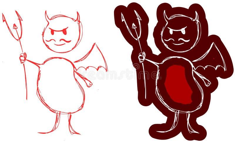 Petit diable rouge illustration stock