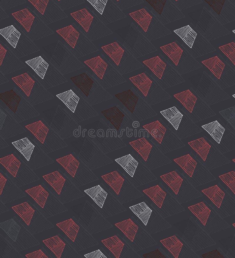 Petit diagonal haché de trapèzes sur le brun illustration libre de droits