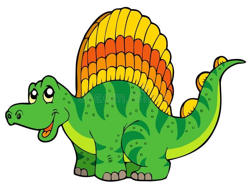 Petit dinosaur de dessin animé illustration libre de droits