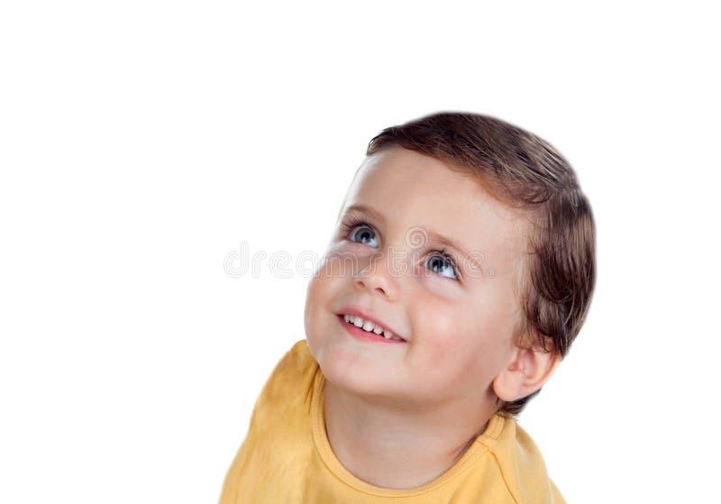 Petit enfant étonné deux années image stock