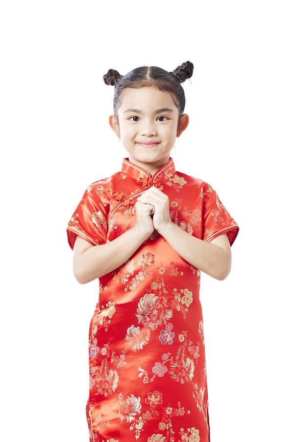 Petit enfant asiatique, nouvelle année chinoise images stock