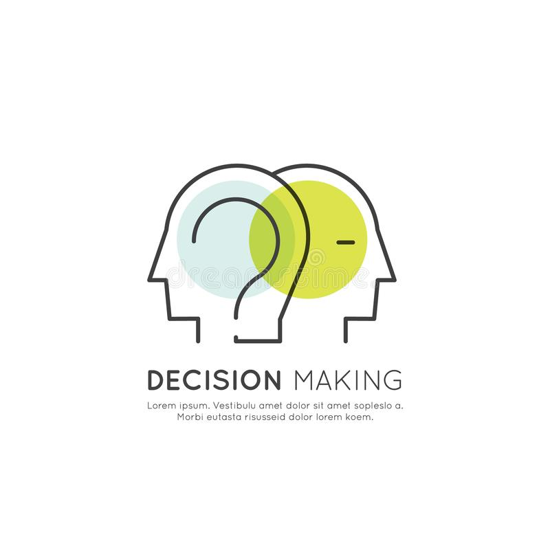 Petit entretien, réunion, prise de décision, conversation illustration stock