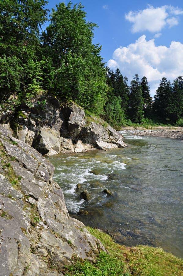 Petit fleuve de montagne. photos stock