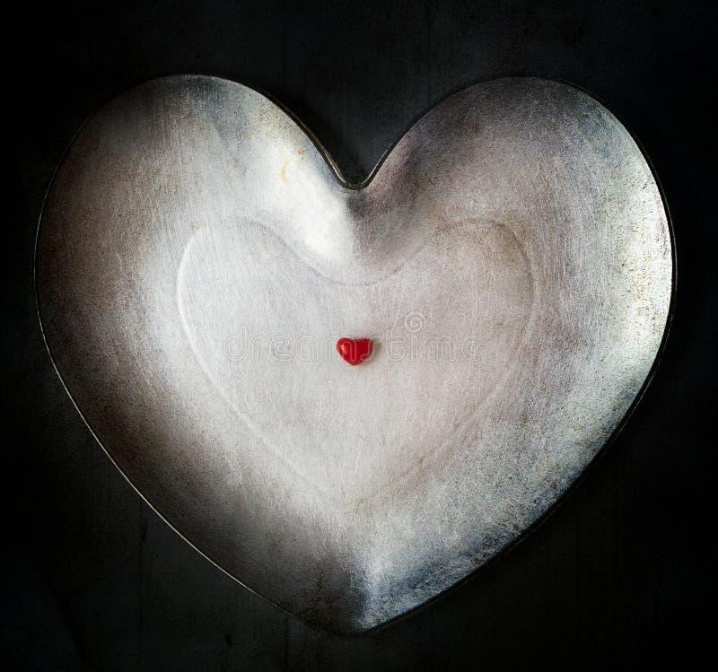 Petit fond isolé de coeur grand illustration de vecteur