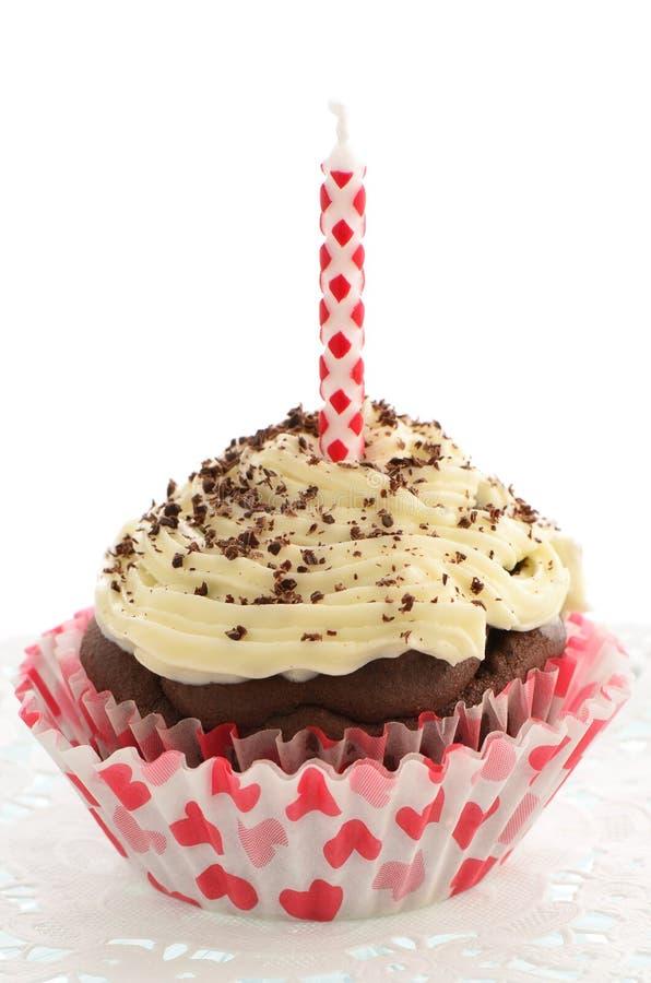 Petit Gâteau à Faible Teneur En Matière Grasse De Chocolat Photographie stock libre de droits