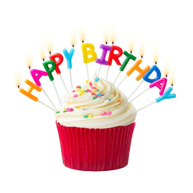 Petit gâteau d'anniversaire images stock