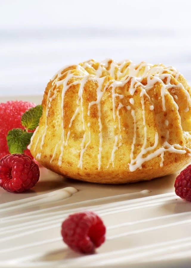 Petit gâteau de forme annulaire images stock