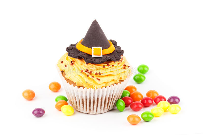 Download Petit Gâteau De Halloween Avec Les Décorations Colorées Image stock - Image du multi, halloween: 77150195