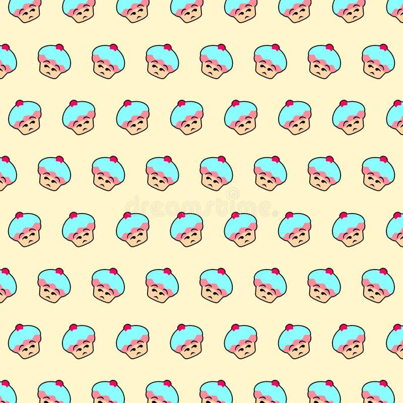 Petit gâteau - modèle 40 d'emoji illustration de vecteur