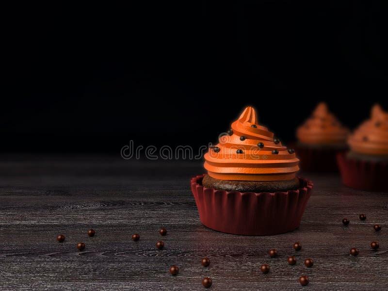 Petit gâteau, rendu 3d photographie stock