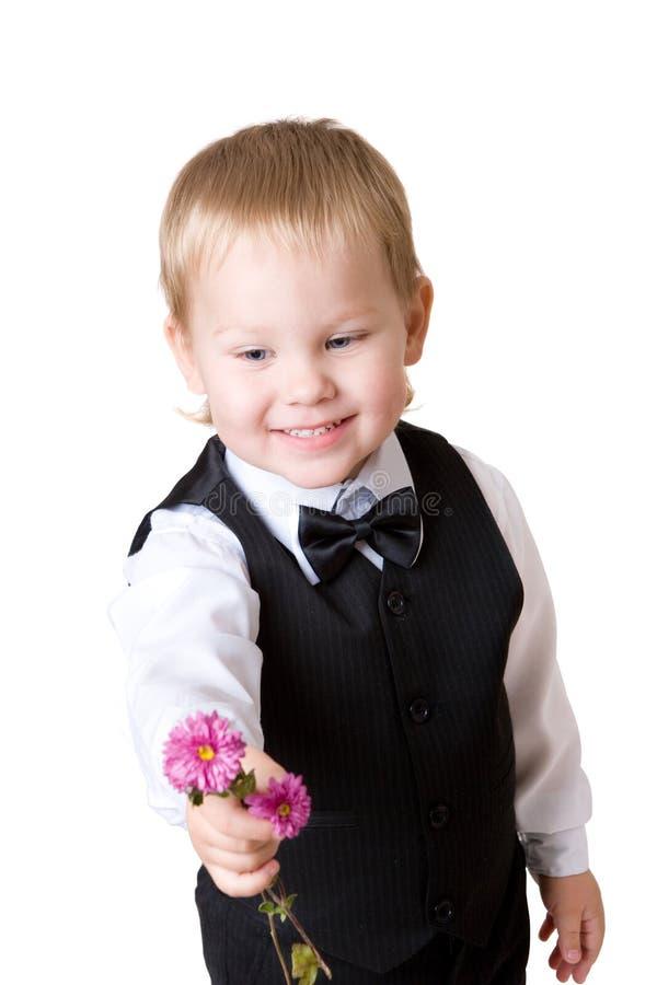 Petit garçon avec le bouquet 3 photographie stock libre de droits