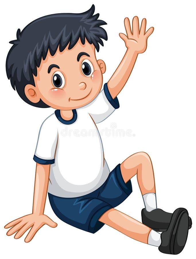 Petit garçon ayant le bras  illustration de vecteur