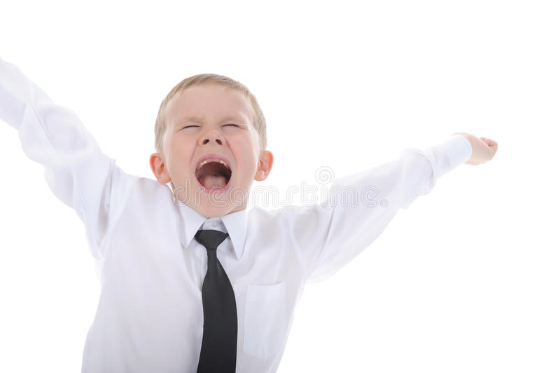 Petit garçon joyeux. images libres de droits