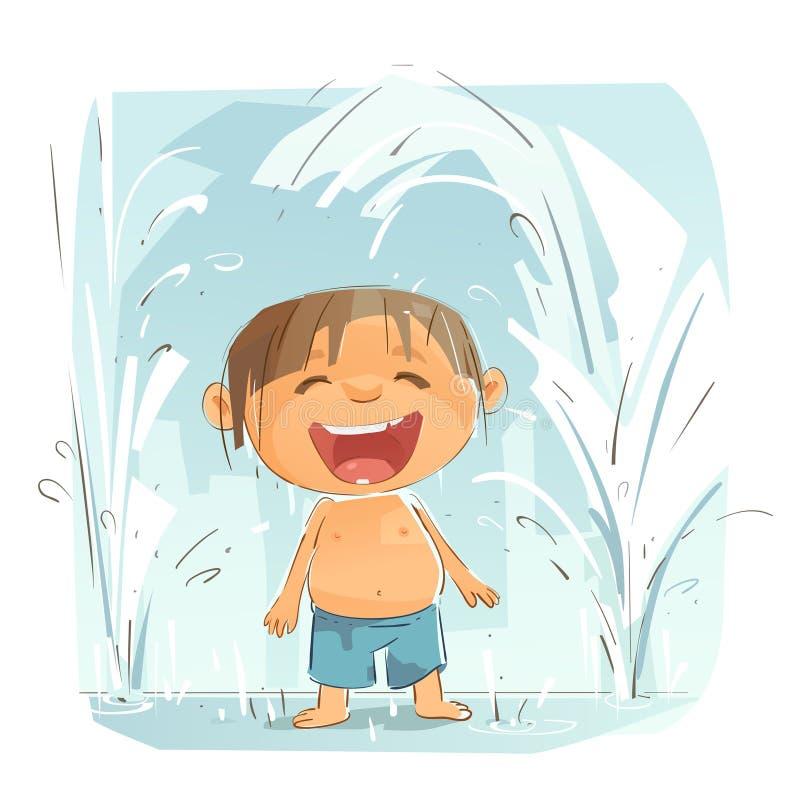 Petit garçon mignon illustration stock