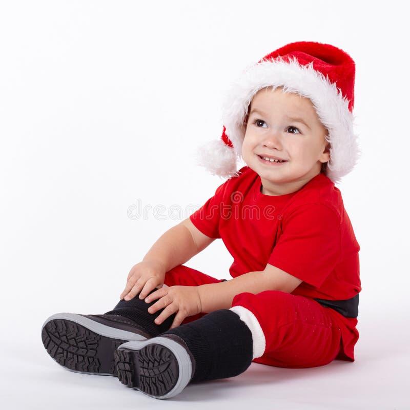 Download Petit Garçon Mignon Avec Le Chapeau De Santa Image stock - Image du innocence, humain: 45352715
