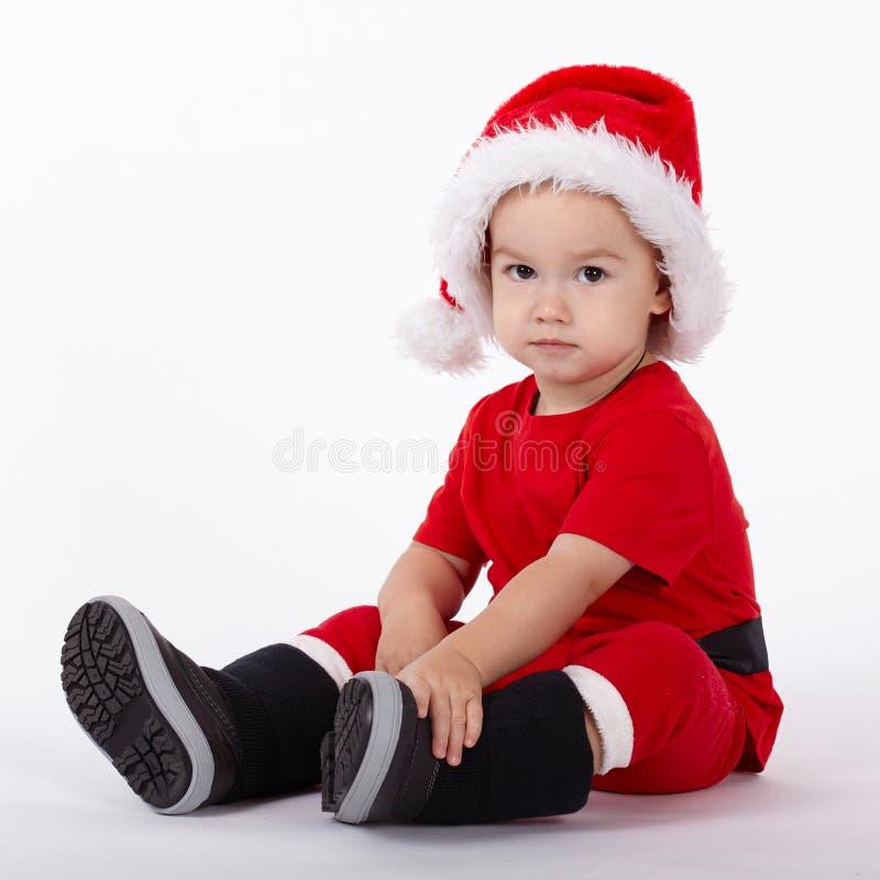 Download Petit Garçon Mignon Avec Le Chapeau De Santa Photo stock - Image du chapeau, neuf: 45352746