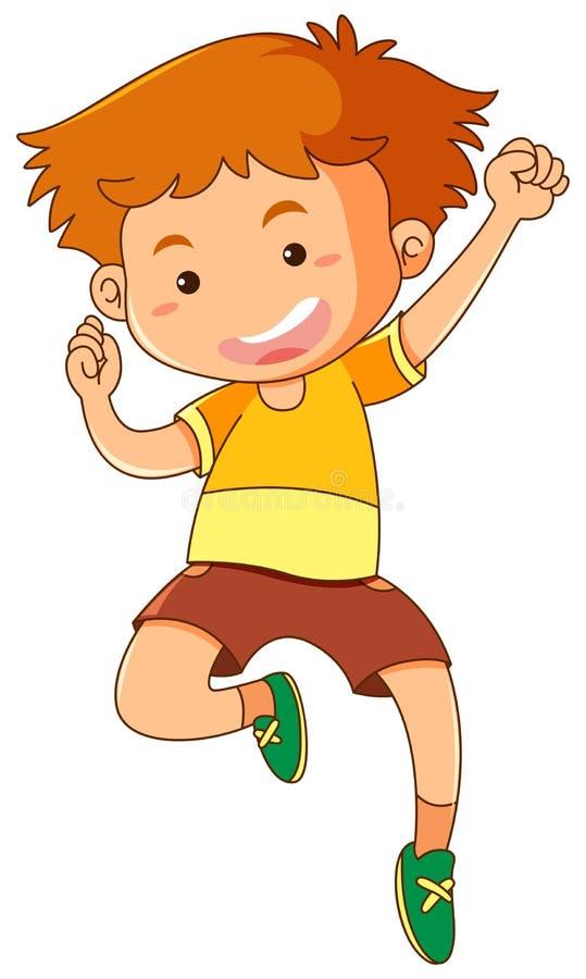 Petit garçon sautant  illustration libre de droits