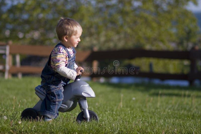 Petit garçon sur le vélo photos libres de droits