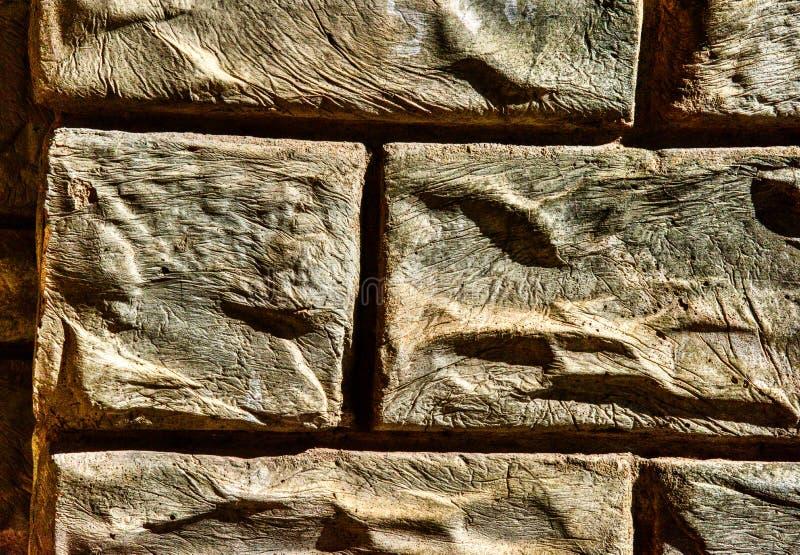 Petit groupe en pierre du Maryland au studio d'église Lignes et texture taillées photo libre de droits