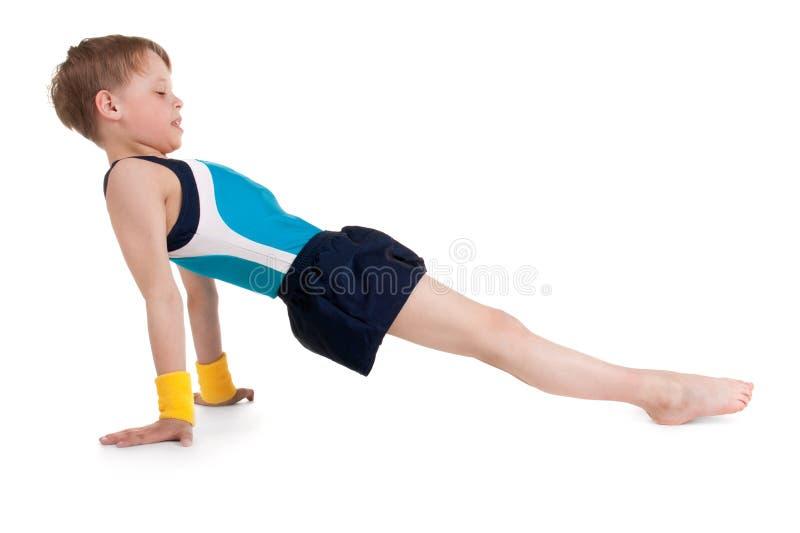 Petit gymnaste photographie stock
