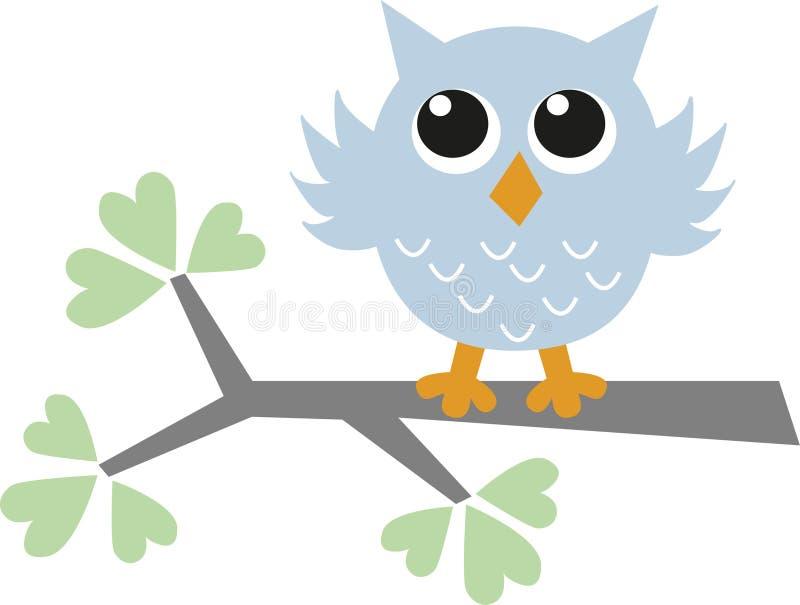 petit hibou bleu d'asweet illustration stock