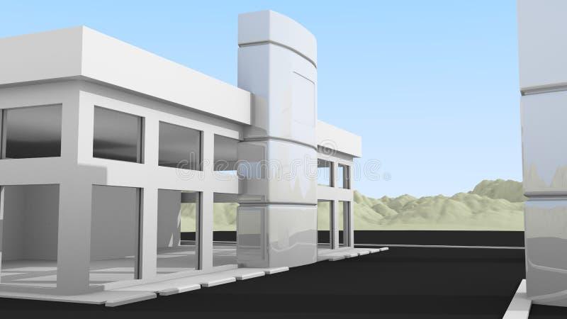 Petit immeuble de bureaux illustration libre de droits