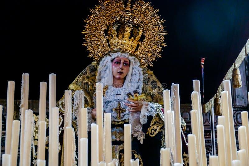 Petit intérieur d'église en La Laguna Ténérife Espagne photos stock