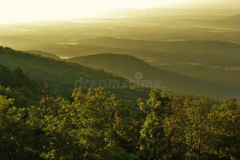 Petit Jean River Valley royalty-vrije stock foto
