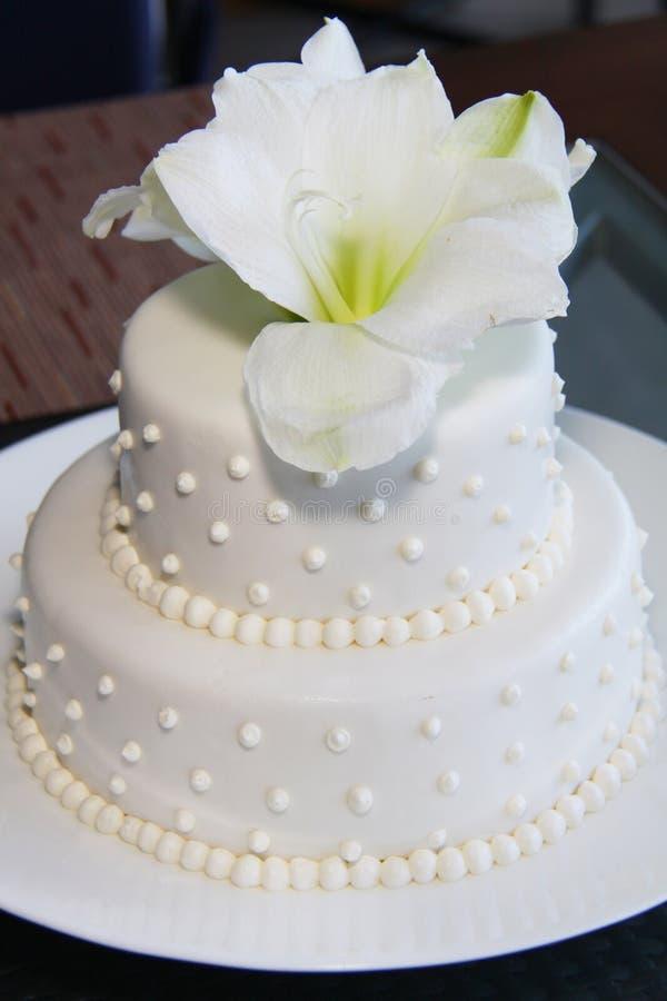 Petit joli gâteau de mariage moderne photos libres de droits