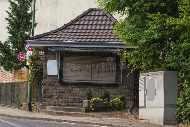 Petit kiosque typique de Ruhrarea photos libres de droits