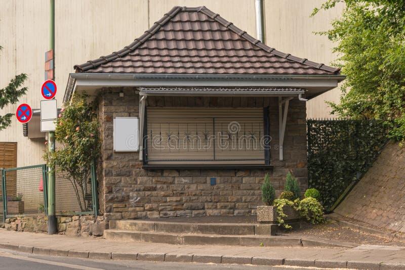 Petit kiosque typique de Ruhrarea photo libre de droits
