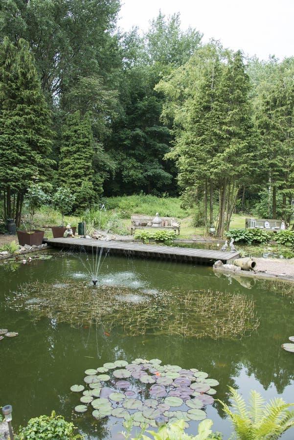 petit lac dans le jardin anglais image stock image 42145671. Black Bedroom Furniture Sets. Home Design Ideas