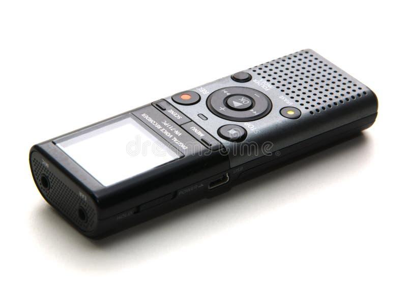 Petit magnétophone à cassettes utilisé pour enregistrer le discours pour photographie stock libre de droits