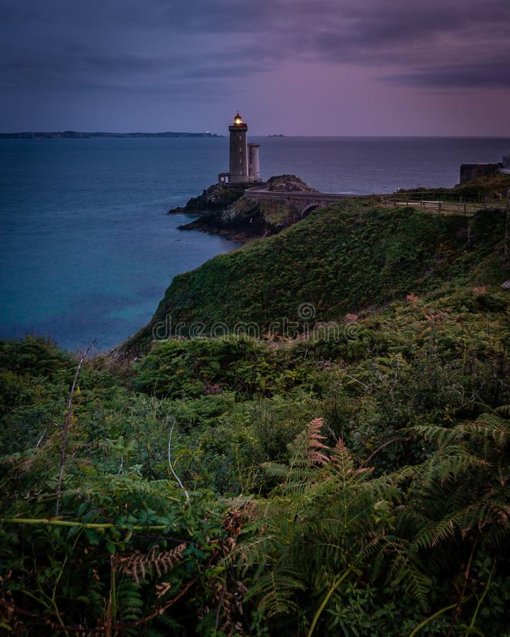 Petit minou lighthouse in France, most beautiful lighthouses in the world stock photography