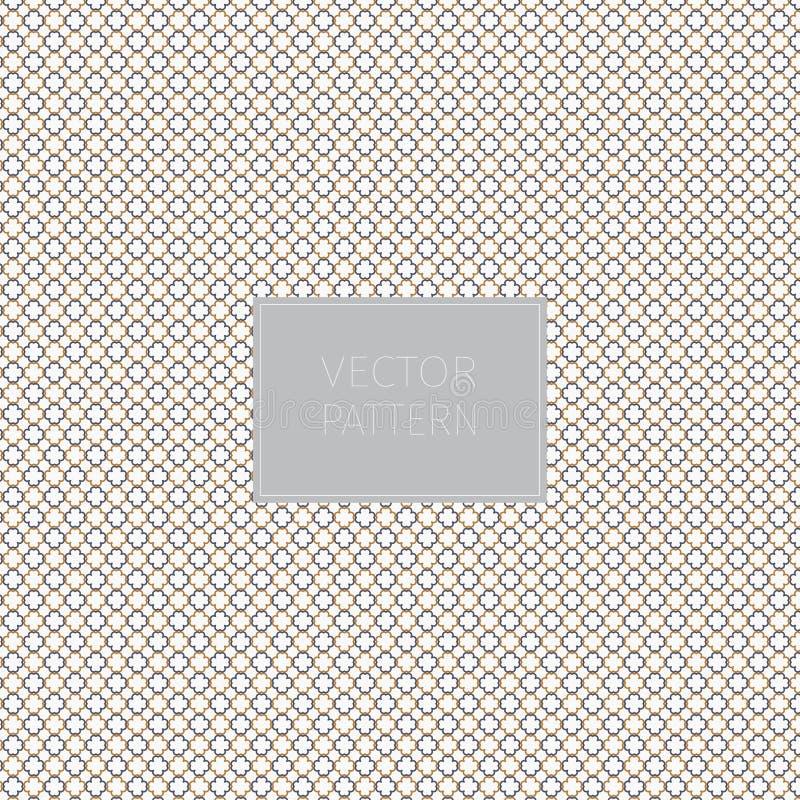 Petit modèle de fleur minuscule beige dans le style oriental Fond de vecteur graphique nettoyez la conception pour le tissu, l'év illustration de vecteur