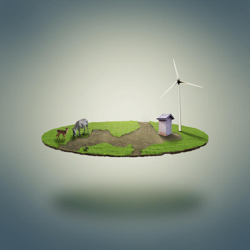 Petit monde d'eco illustration stock