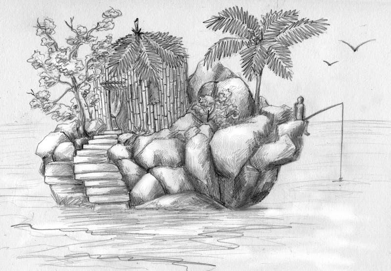 Petit monde isolé illustration de vecteur