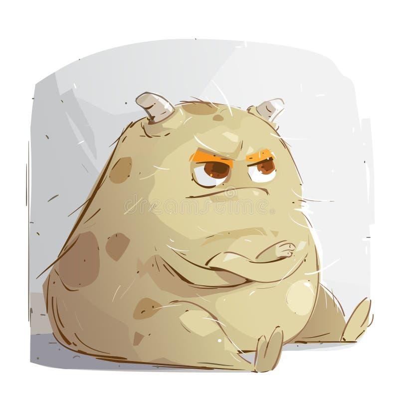 Petit monstre fâché illustration de vecteur
