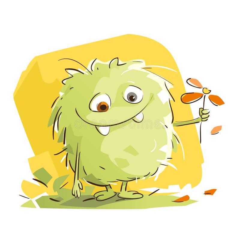 Petit monstre mignon illustration stock