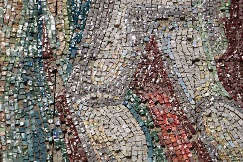 Petit motif de mosaïque de tuiles de fond bleu de Zexture photo stock