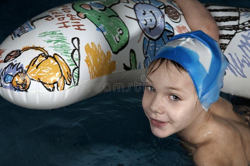 Petit nageur photographie stock