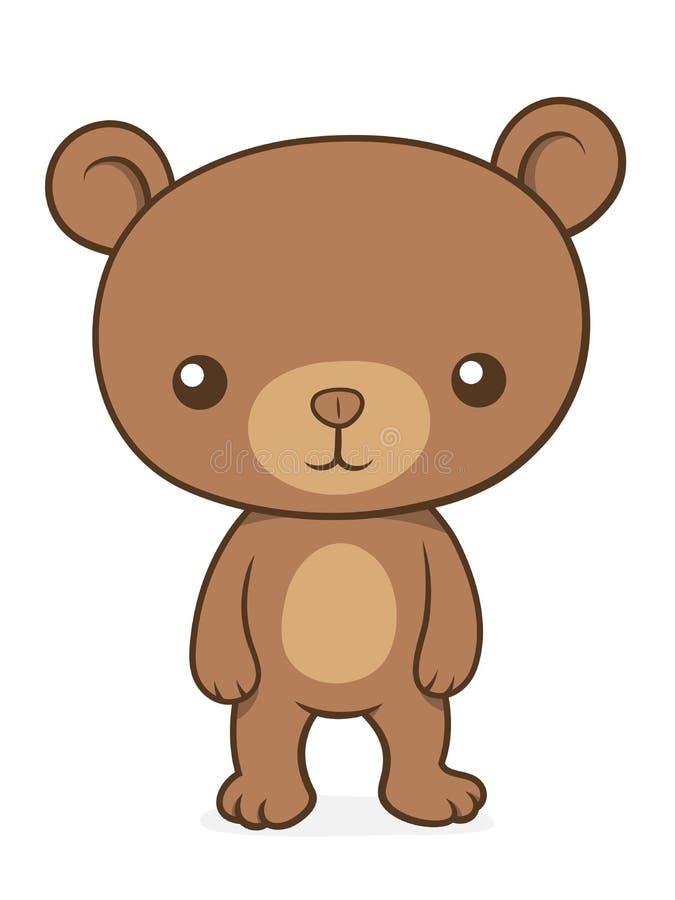 download petit nounours mignon de petit animal dours brun illustration de vecteur illustration - Petit Nounours