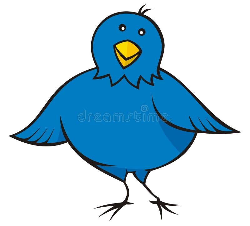 Petit oiseau bleu illustration de vecteur