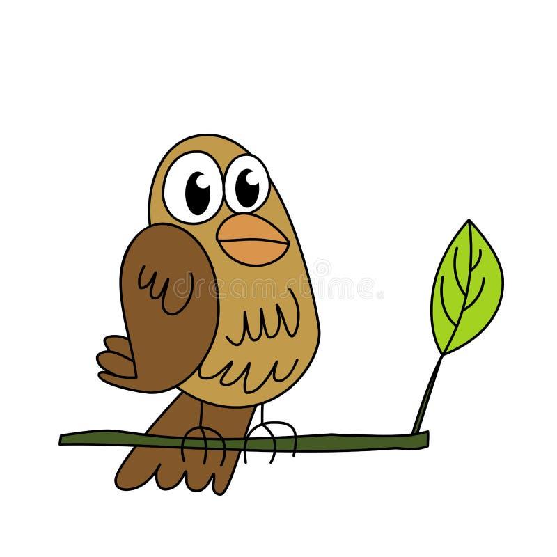 Petit oiseau drôle image stock