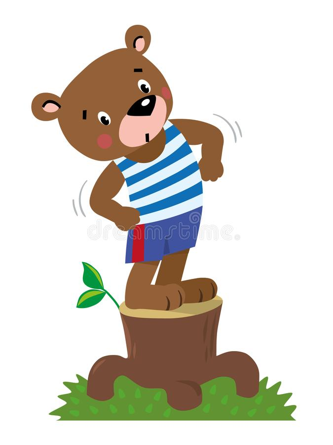 Petit ours fort drôle illustration libre de droits