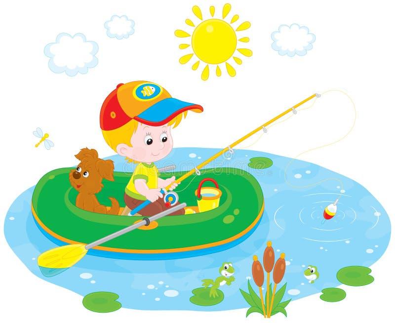 Petit pêcheur illustration de vecteur