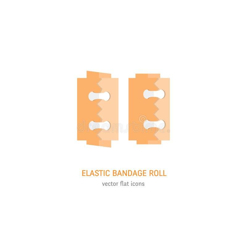 Petit pain élastique de bandage illustration stock