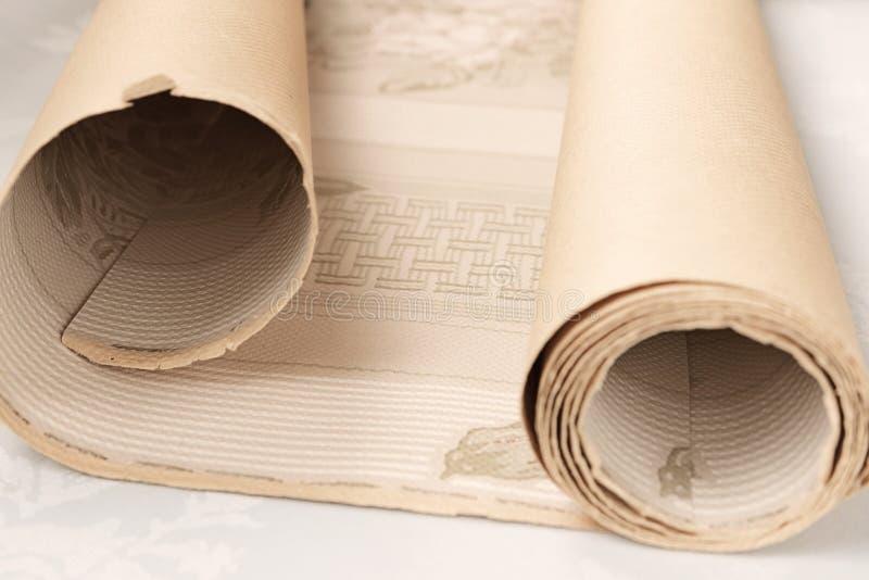 Petit pain antique de papier peint photographie stock